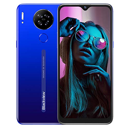 Teléfono Móvil Libres 4G, Blackview A80S Smartphone Libre,4GB+ 64GB, Android 10 Octa-Core, 6.21' HD+ IPS Water-Drop Screen Smartphone Barato, 4200mAh, 13MP+5MP, Dual SIM/GPS/Face...