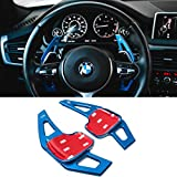For BMW Paddle Shifter Extensions,Jaronx Aluminum Metal Steering Wheel Paddle Shifter(Fits: BMW 2 3 4 X1 X2 X3 X4 X5 X6 series,F22 F23 F30 F31 F33 F34 F36 F32 F15 F16 F25 F26 F48 F39) -Blue