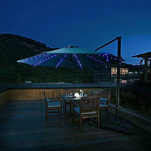 Walmeck- Luci per Stringhe Luci per ombrellone da Patio 104 LED 8 modalit di Illuminazione con...