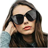 LVIOE Polarized Oversized Frame 100% UV Protection Fashion Cateyes Style Sunglasses Eyewear for...