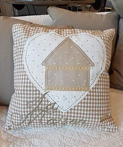 Amaranda Casa Cuscino Divano Shabby Maison cm.40x40 Cotone 100%