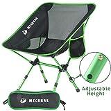 Mechhre Hauteur Réglable Chaise De Camping Pliable Chaise Pliante avec Sac...