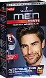 Schwarzkopf - Men Perfect - Gel Colorant Anti-Cheveux Blancs Homme - Coloration Cheveux Homme - Châtain Naturel 60