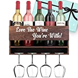 Anniversary Gifts for Her Gifts for Him - 'Love The Wine You're With' Wine Rack Valentines Day Gifts for Boyfriend Romatic Gifts for Girlfriend Birthday Gifts for Husband Gifts for Wife Wedding Gifts for Couples