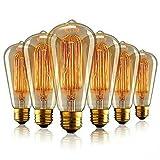 Aurora E27 Edison Ampoule Vintage, E27 Ampoules à incandescence Rétro,ST64...