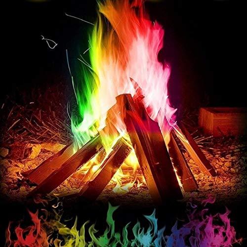 Meihet Mehrfarbenflamme Pulver Flamme, Flammendekoration die im Freienfeuer Partei Versorgungen färb Lichtschaltersticker
