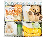 Bundle Bear Box, Baby Shower Gift Bundle, 9 Essentials - Gender Neutral