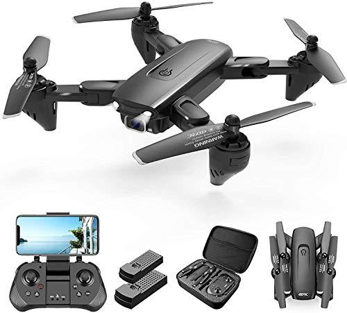 4DRC F6 Drone GPS 4K Telecamera 5G WiFi App Controllo Drone Pieghevole Selfie modalit Seguire, modalit Ritorno Home, Controllo dei Gesti, Volo Circolare, modalit Hovering(Due Batterie e Borsa)