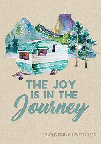 Camping Journal & RV Travel Logbook, Blue Vintage Camper Journey...