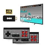 hooks Consola De Juegos Retro, Consola de Videojuegos 4K HDMI 750 Juegos clásicos incorporados, Videojuegos Plug and Play, Mini Consola Retro Controlador de Gamepad portátil USB