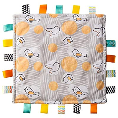 Taggies Original blanket: back and better than ever, it's the soothing baby creation that started it all; babies love this square piece of fabric with lots of sewn-in looped ribbons, measures 12 x 12-inches Modern prints & colors: softest jersey fabr...