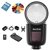Godox V1 V1-N Speedlite,TTL Round Ring Camera Flash +Batteria agli ioni di litio + USB Stunt di ricarica,per Nikon Fotocamera (V1-N)