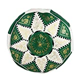 Le Bled à Julie Pouf Oriental Marocain Vert et Blanc