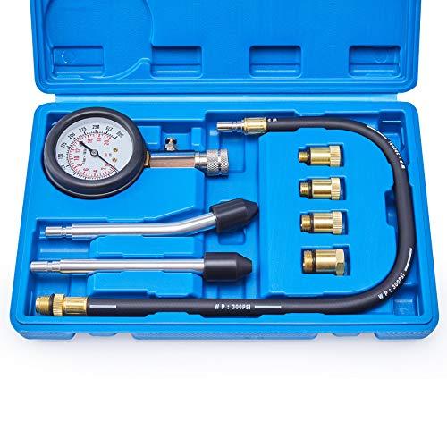 Compression Tester, 8PCS Cylinder Pressure Gauge...