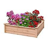 ZSHUZHI Cama de jardín levantada, Natural de Madera Planter Caja de Madera...