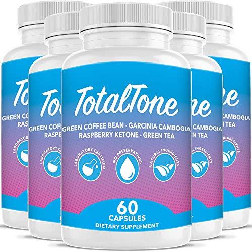 Total Tone Garcinia Pills forAdvanced Weight Loss -Burn Fat Quicker - Carb Blocker (5 Month Supply) 1