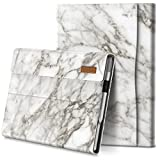INFILAND Microsoft Surface Pro 7+/ Surface Pro 7 Plus Case Cover Compatible with Microsoft Surface Pro 7+/ Surface Pro 7/ Surface Pro 6/ Surface Pro 5/ Surface Pro 4 12.3 inch Tablets, White Marble