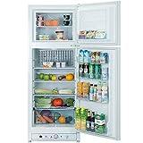 Smad Gas Refrigerator Freezer 110V/Propane Fridge Up Freezer, 9.3 Cu.Ft, White