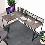 Homy Casa Bureau d'ordinateur en Forme de L - Bureau d'angle en MDF - Table...