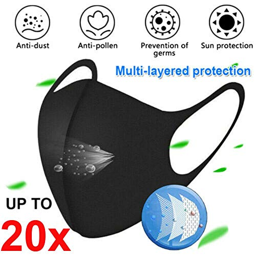 PEIZH Dustproof Másk 1/3/5/10X Mouth Cover Másk Cycling Surgical Respirator,Adult Cotton Reusable Washable Face Cover