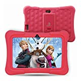 Dragon Touch Y88X Plus Kids Tablet 16 GB 2019 Edition, 7 inch HD IPS Display Touchscreen Kidoz Pre-Installed with All-New Disney Content - Red