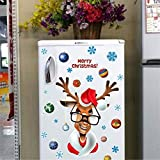 Kiddale Christmas Decorations Santa Claus Refrigerator Decals, Removalble Self-adhensive Wall Stickers for Fridge, Cabinets,Metal Door, Garage, Office Cabinets,Living Room, Bedroom,etc.