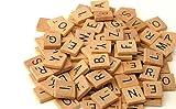 200 x qualité En bois Tuiles De Scrabble Artisanat De Bijoux...