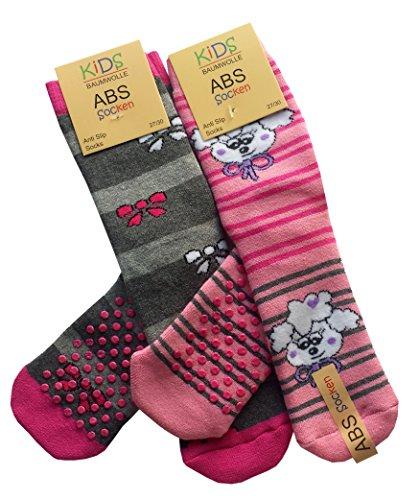 ABS, 4paia di calzini pantofole per bambini, in spugna di cotone Calzini antiscivolo. 4 Pair...