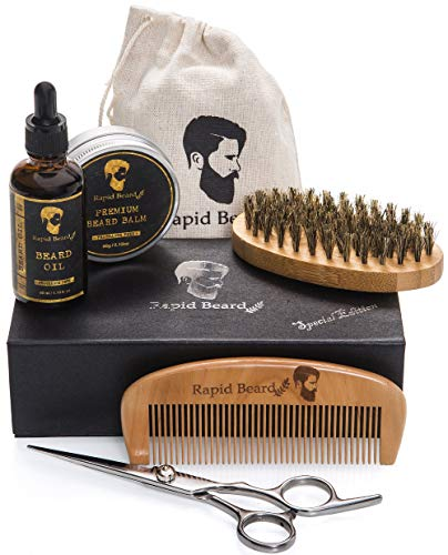 Beard Grooming & Trimming Kit for Men Care - Beard Brush,...