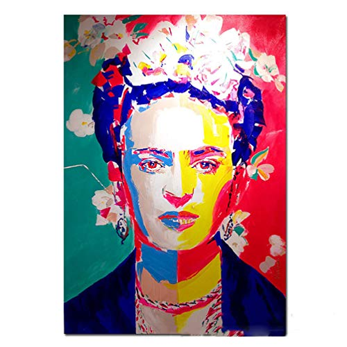 Cartel De La Impresión De La Lona De Frida Kahlo Mujer Pintora Mexicana Retrato Pinturas Arte Pop Colorido Arte De La Pared Impresiones En Lienzo Arte Fotos De Graffiti Realismus, Sin Marco,30×40cm