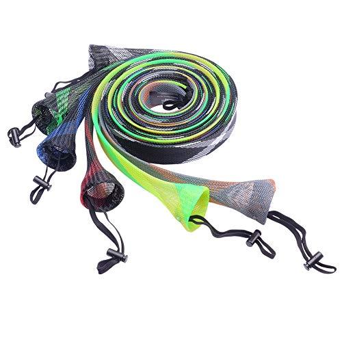 SF Fishing Spinning Rod Socks Braided Mesh Rod Sleeve Cover Protector Pole Gloves (Random Color/6...