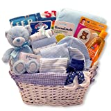 Just for The New Baby Boy - New Baby Boy Gift Basket Perfect for Baby Shower and The New Baby Arrival