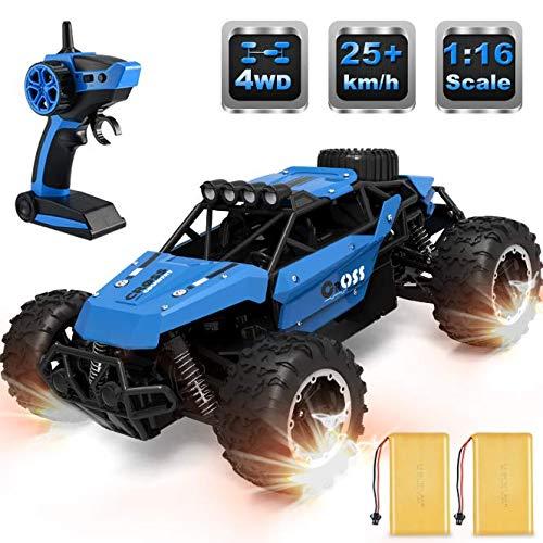 allcaca Buggy RCAuto Offroad 4WD Ferngesteuertes Auto 1/16 Maßstab 2.4GHz Funkfernsteuerung 25KM/h RC Geländewagen Auto Spielzeug für Erwachsene und Kinder, Blau