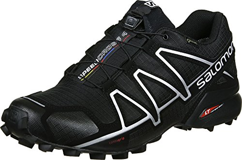 Salomon Speedcross 4 GTX Men's Waterproof Trail Running Shoes. Black Black Black Silver Metallic X, 11 UK