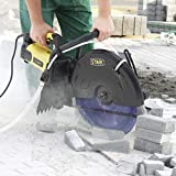 Stark 3200W Electric 16' Cutter Circular Saw Concrete Wet/Dry Saw Cutter Guide Roller w/Water Line Attachment (Blade not Included)