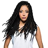 Bobbi Boss 100% Premium Fiber Hair Nu Locs 18' - BNULC-18 (6 Pack/Color #1B)