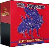 Pokemon TCG: Sword & Shield Elite Trainer Box - Zacian   8 Booster Packs   Genuine Cards, Multicolor