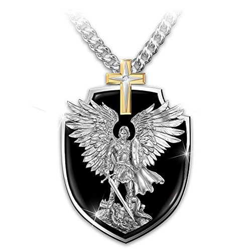 Strength Of St. Michael Son Dog Tag Pendant Necklace by The Bradford Exchange