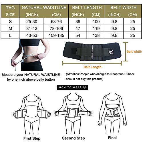 MERMAID'S MYSTERY Waist Trimmer Trainer Belt for Women Men Weight Loss Premium Neoprene Sport Sweat Workout Slimming Body Shaper Sauna Exercise 5