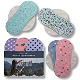 Reusable Panty Liners, 7-Pack of Washable Cotton Cloth Pantyliners with Wings, Eco Sanitary Towels Made in EU, Thin Organic Dailies Pads for Daily Usage Light Flow, Vaginal Discharge, NOT for Period
