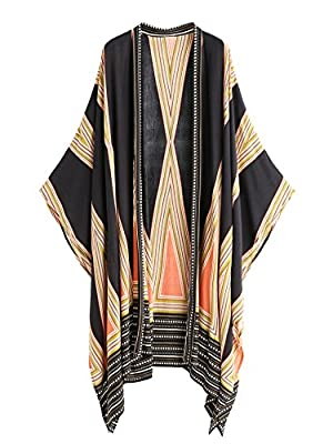 Material: rayon, loose fit and boho style Shawl kimono for swimwear, beachwear, casual etc Help you keep your skin from exposing to the sun Please refer to size measurements on product description before ordering Colors may appear slightly different ...
