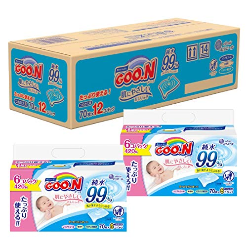 グーン 肌にやさしいおしりふき 詰替用 840枚(70枚×12個) 【ケース販売】