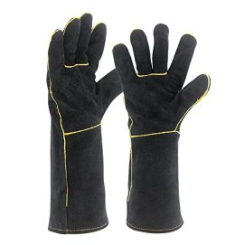 Welding-Gloves-HEAT-RESISTANT-Cow-Split-Leather-BBQCampingCooking-Gloves-Baking-Grill-Gloves-Welder-Fireplace-Stove-Pot-Holder-WorkPlace-Glove