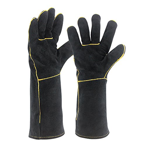 OLSON-DEEPAK-Welding-Gloves-HEAT-RESISTANT-Cow-Split-Leather-BBQCampingCooking-Gloves-Baking-Grill-Gloves-Welder-Fireplace-Stove-Pot-Holder-WorPlace-Glove