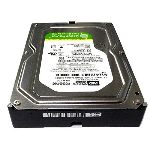 Western Digital Occidentale AV-GP Digitale HDD Interno da 3,5' da 500 GB, SATA, Buffer 32 MB, Nero