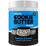 FDL - Keto Protein Powder Cookie Butter - Low Carb Food - Easy to Mix, Bake and Spread - 1g Net Carb - 9.21oz (Cookies & Cream)