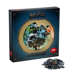 Winning Moves Puzzle Harry Potter Criaturas MAGICAS 500 Piezas, Color Magical Creatures, Talla única (2473)