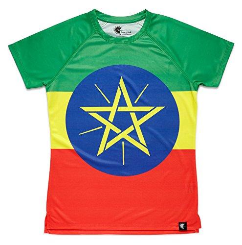 HOOPOE Camiseta Atletismo Etiopia Hombre, Manga Corta, Running,...
