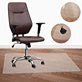 Chair Mat for Hardwood/Tile/Laminate/Vinyl/Concrete/Linoleum Hard Floors 48' x 36' Heavy Duty Hard Flooring Protector Covering Protection Office Chair Mats for Home Desk