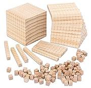 Betzold 95084 - Dienes-Material Zehnersystemsatz 121 teilig - Dezimal-Würfel Holz-Dezimalsystem Mathe-Dezimalrechensatz - Mathematik Grundschule